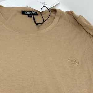 BALMAIN**Beige Men's T-Shirt Med.**$449